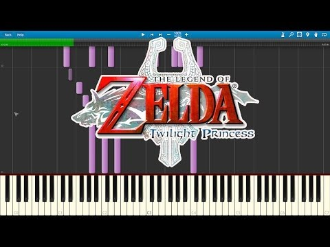 Midnas Theme - Legend Of Zelda : Twilight Princess (Piano Cover) [Synthesia]