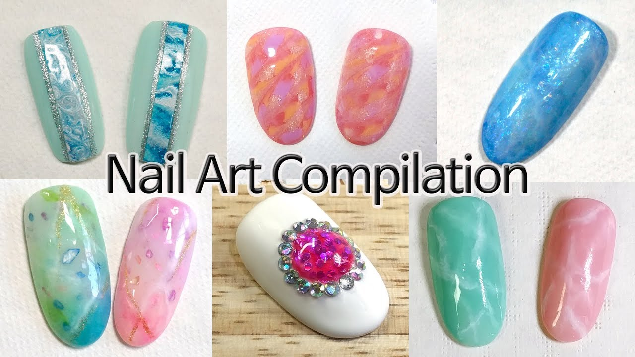 Nail Art Compilation Mable Gemstone Youtube