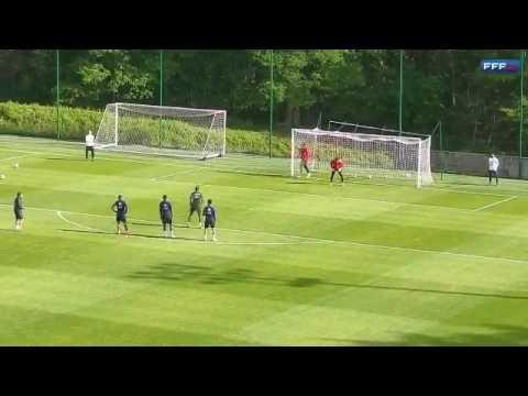 Paul Pogba doing Paul Pogba things in France training.