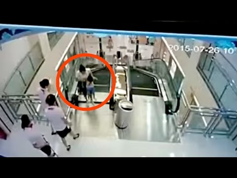 Chinese Woman DIES Saving Child On Escalator | What's Trending Now