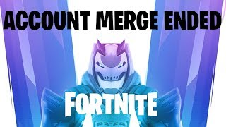 FORTNITE ACCOUNT MERGE ENDED😱