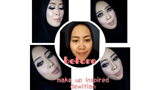 Tutorial make up INSPIRED ALA  MUA HITS by DEWITIAN pake make up lokal || nesiasarah nesia
