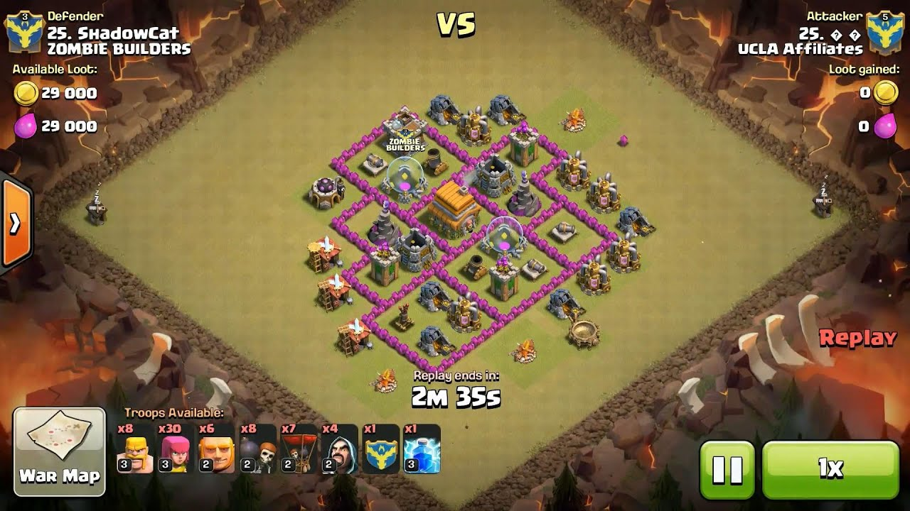 Clash Of Clans Th Vs Th Mixed Troop Clan War  Star