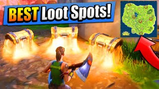 TOP 6 BEST LOOT SPOTS! (+ Where To Find Them) Fortnite: Battle Royale thumbnail