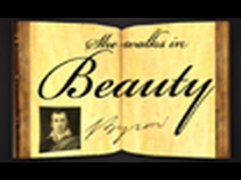 She Walks In Beauty by George Gordon (Lord) Byron - Poetry Reading