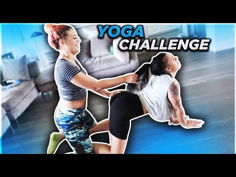 yoga-challenge-with-my-sister-😋💦