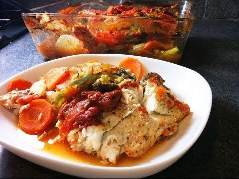filet-de-colin-et-légumes-au-four-facile