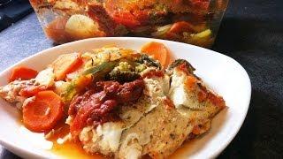Filet de colin et légumes au four facile