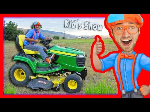 Thumbnail: Lawn Mowers for Kids | Yard Work with Blippi