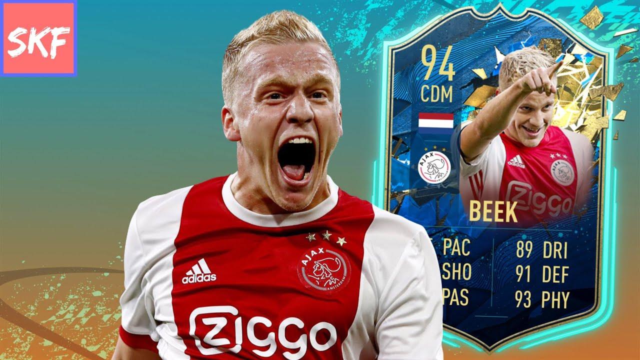 Fifa 20 94 Tots Donny Van De Beek Player Review Youtube