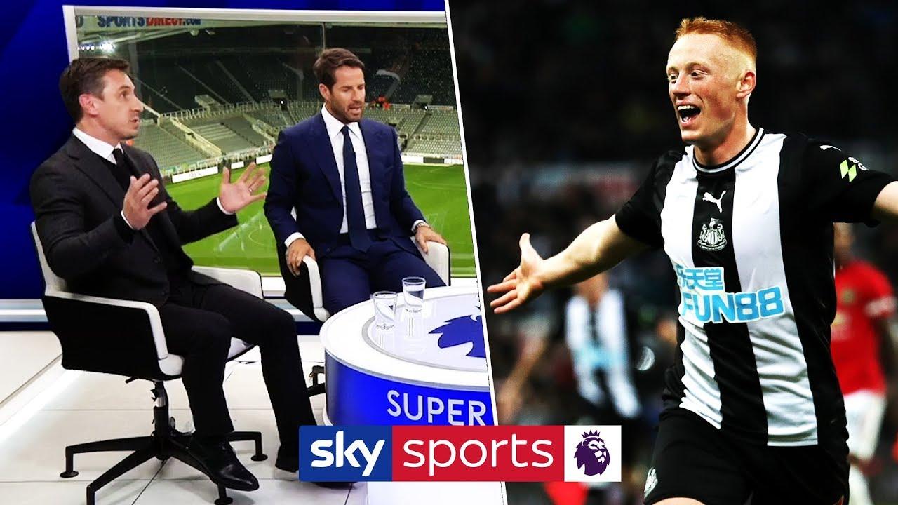 Jamie Redknapp, Graeme Souness & Gary Neville react to Matty Longstaff's goal vs Man Utd