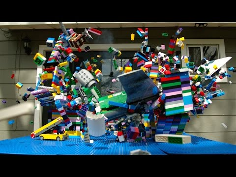 Download Youtube: Lego Plane Crash in Slow Motion - The Slow Mo Guys