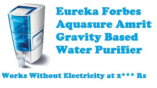 Eureka Forbes Aquasure Amrit Gravity Based Water Purifier