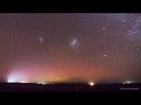 Meteor Shower Adorns Aurora Australis Over Tasmania