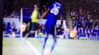 Jamies Vardy goal Leicester 1-0 West Ham