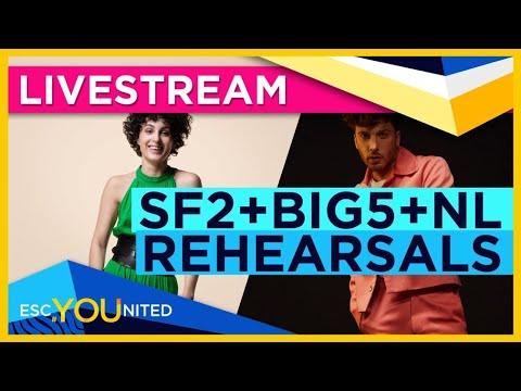 Eurovision 2021 Rehearsals - Day 6 Live Stream (From Press Center) Semi 2, Big 5 & Host