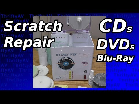 Your scratched up discs won't play? Fix CDs, DVDs, and Blu-rays with a JFJ Easy Pro Resurfacer!