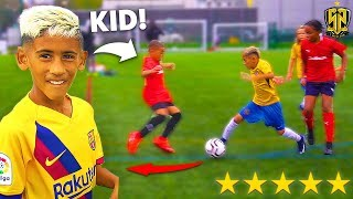 I Challenged KID Footballers To a PRO Football Competition ft. 8 YEAR OLD MESSI