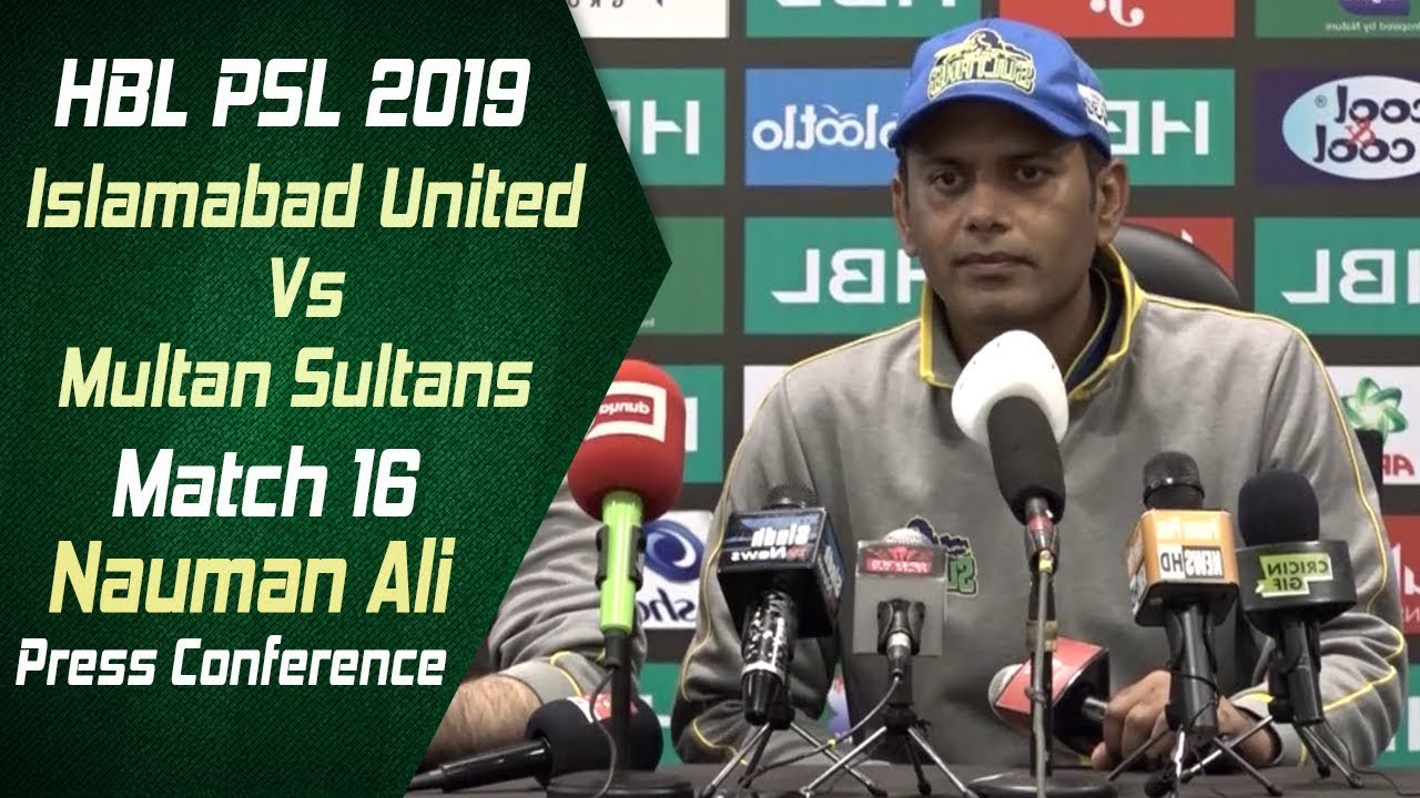 HBL PSL 4   Match 16 Multan Sultans v Islamabad United Post Match Press Conference   Nauman Ali