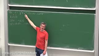 Vorlesung 19: Elliptische-Kurven-Kryptografie (ECC) von Christof Paar