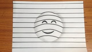 How to draw 3d emoji - art on paper very easy