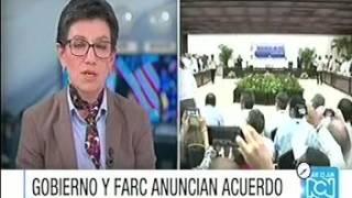 Claudia López cuestiona imparcialidad de RCN sobre la paz