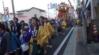 川越祭り2014 18日 菅原町(菅原道真)山車 巡行 2014.10.18 Kawagoe Festival