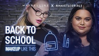 How To Slay Back To School Tutorial ft. NikkieTutorials + Nabela Noor | Maybelline New York
