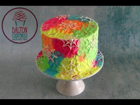 Glow In The Dark Spiderweb Cake