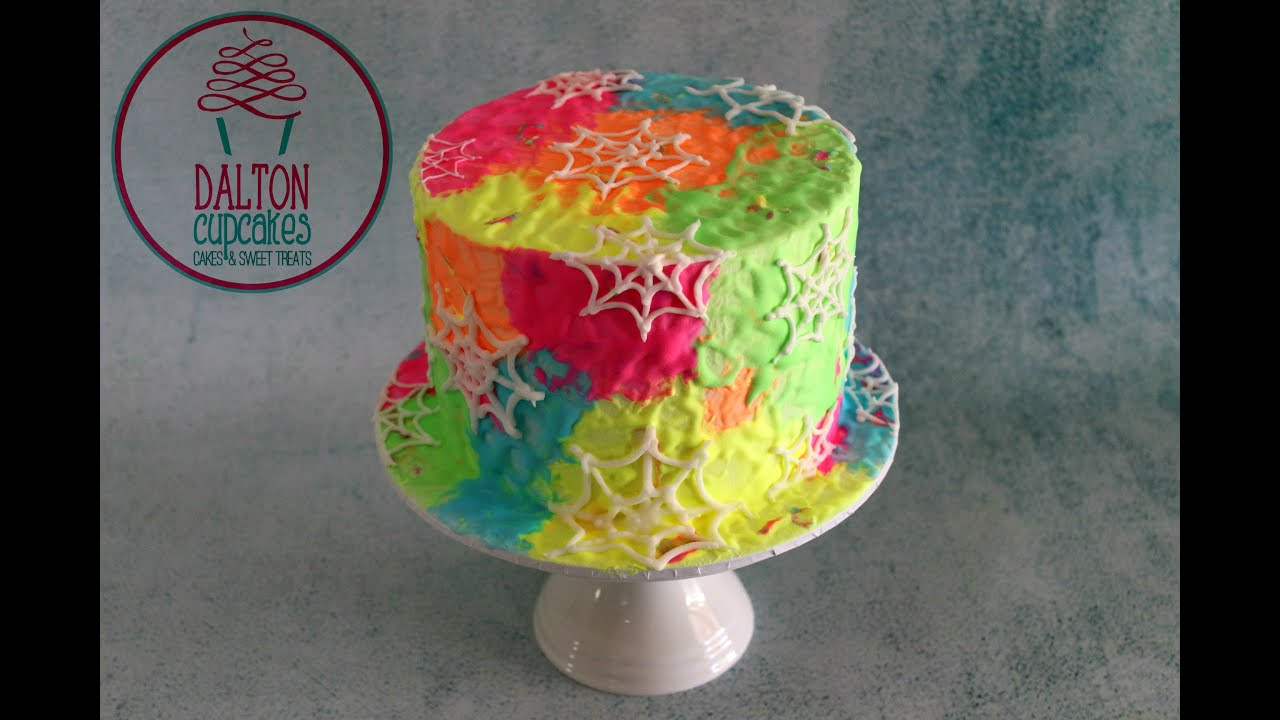 Glow In The Dark Spiderweb Cake How To YouTube
