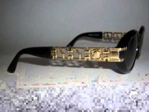 gianni versace gold medusa head greek key sunglasses youtube