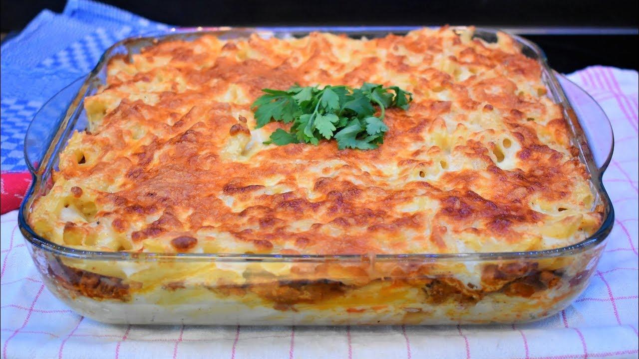 معكرونه الدجاج بالبشاميل Youtube Food Recipes Arabic Food