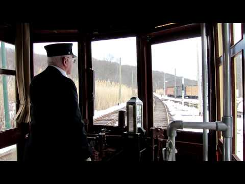 Riding the Trolleys in Winter at Shore Line Museum - Branford CT