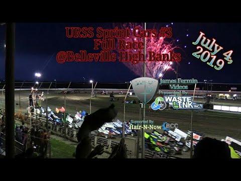 (URSS) Sprint Cars #12, Full Race, Belleville HighBanks 07/04/19