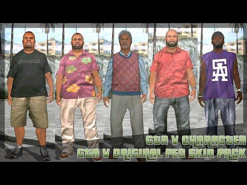 ► SHARE!|| ✪ GTA V ORIGINAL PED SKIN PACK HD|| GTA SA MOBILE
