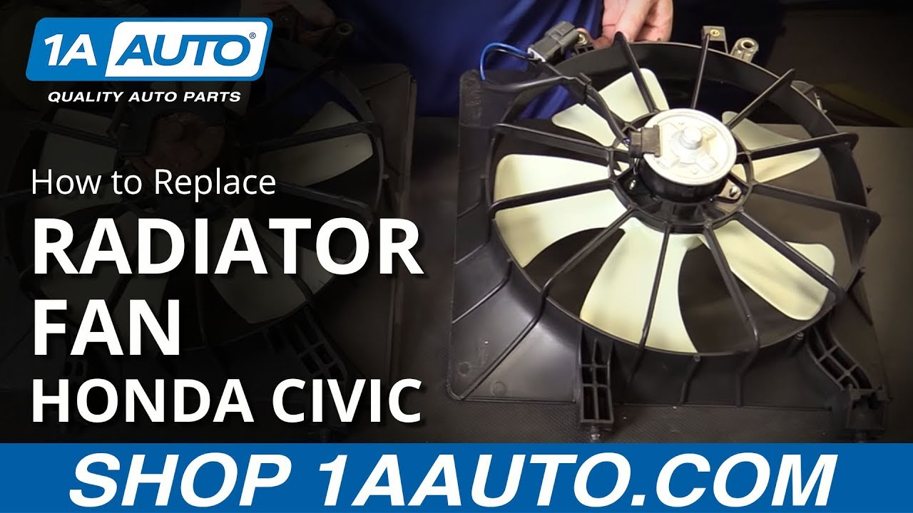 how to replace install a radiator fan 2001 05 honda civic [ 1280 x 720 Pixel ]