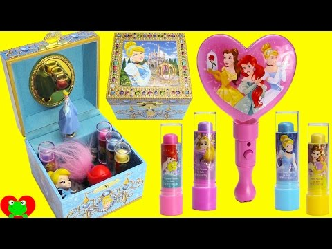 Disney Princess Cinderella Music Box Lip Balms and Surprises