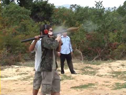 Shot a rocket launcher in Cambodia - YouTube