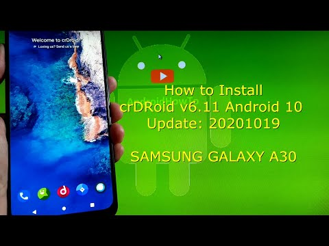 Samsung Galaxy A30: crDRoid v6.11 Android 10 Update: 20201019