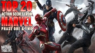 Marvel Movies Phase 1 and 2 | Top 20 Action Scenes