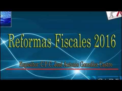 20151208 Reformas fiscales 2016