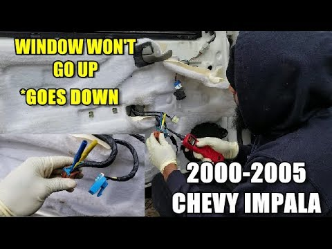 window won't go up/stuck down 2000-2005 chevy impala