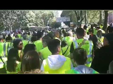 Vecinos de As Pontes llegan a Santiago para exigir la reactivación de la térmica