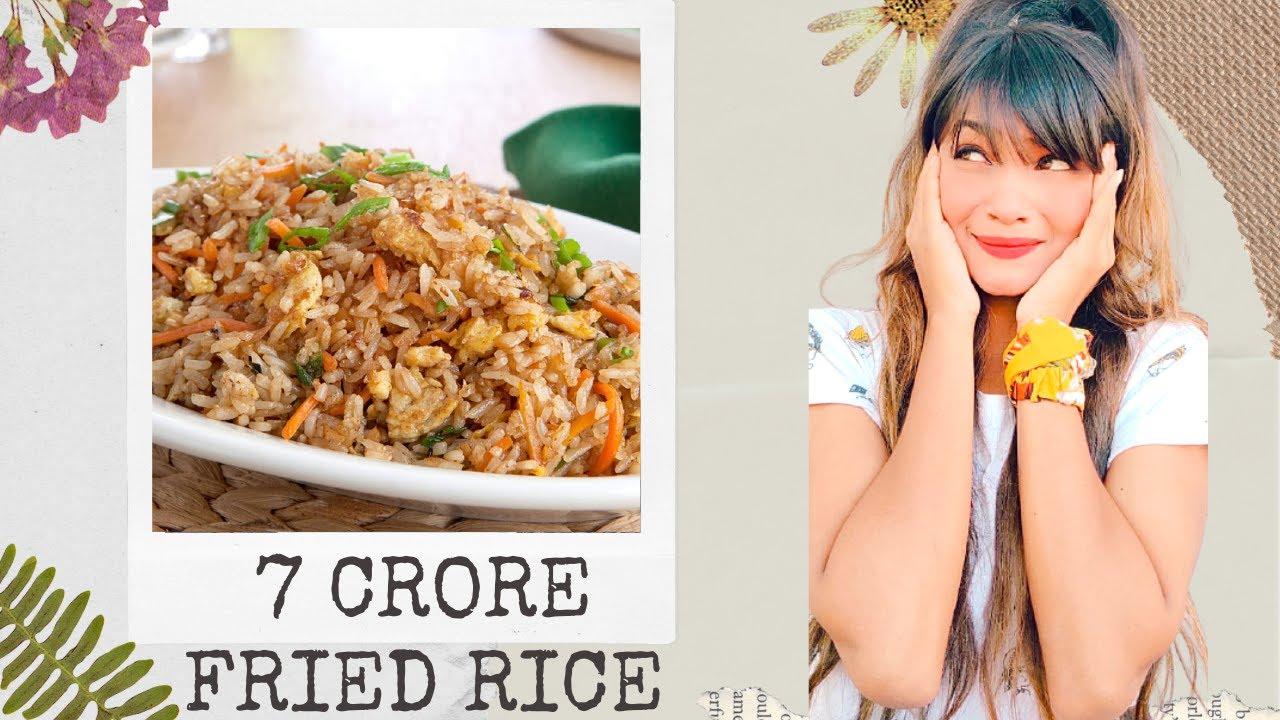 My 7 Crore Fried Rice Recipe Vlog 🍚🤩 Kumi Rajput