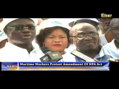 Maritime Workers Protest Amendment Of NPA Act