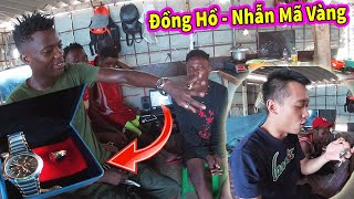 Quanglinhvlogs || Tặng Đồng Hồ & Nhẫn Mã Vàng 24k Cho LINDO - Phản Ứng Quá Bất Ngờ và...CÁI KẾT