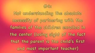 Top Ten Mistakes Made By Child Care Director