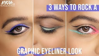 How To Perfect The Graphic Eyeliner Trend Ft. MUA Sukanya M | Nykaa