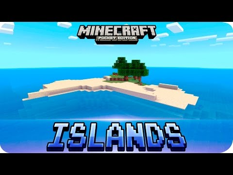 Minecraft PE Seeds - TOP 3 Survival Island Seeds - MCPE 1.2 / 1.1