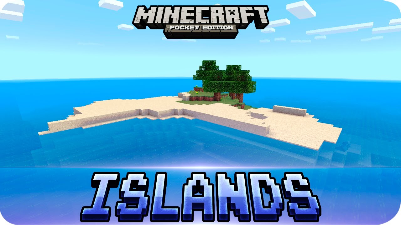 Minecraft PE Seeds - TOP 3 Survival Island Seeds - MCPE 1 2